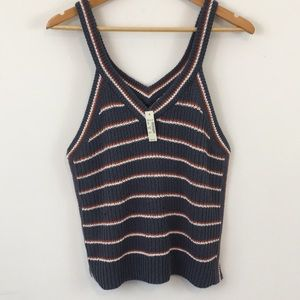 Madewell Tops - Madewell Sweater Tank Top Striped